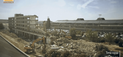 Timelapse : Destruction de bâtiment