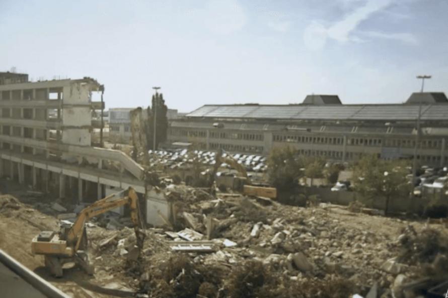 Timelapse : Destruction de bâtiment